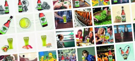 Hato green tea beer
